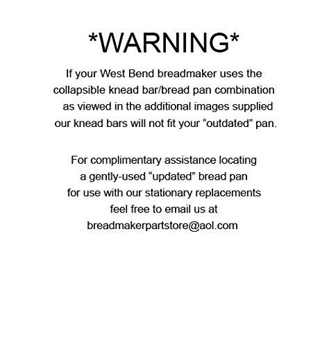 Hoja de amasar de repuesto/pala para West Bend Pan máquinas ...