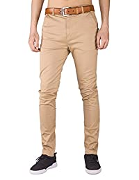 Italy Morn Mens Flat Front Chino Pants Casual Khakis Slim Fit Business Wear