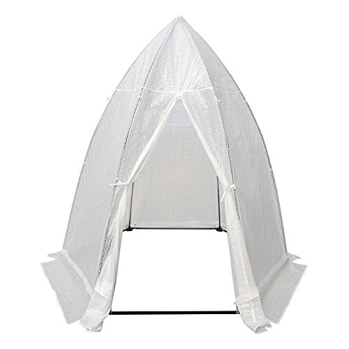 Abba Patio Portable 7.8'D x 6.7'W Hexagonal Walk in Greenhouse Fully Enclosed Lawn and Garden Outdoor Tent with Window, White by Abba Patio
