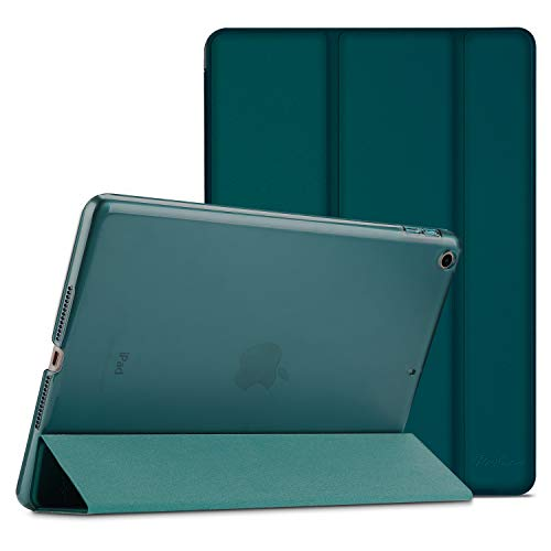 ProCase iPad 9.7 Case 2018 iPad 6th Generation Case / 2017 iPad 5th Generation Case - Ultra Slim Lightweight Stand Case with Translucent Frosted Back Smart Cover for Apple iPad 9.7 Inch -Emerald