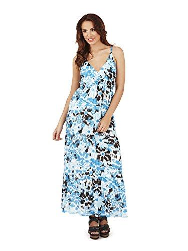 de el Vestido Cruzado Pistachio 2 Floral con Verano Frontal Dama para Azul SwwU1p