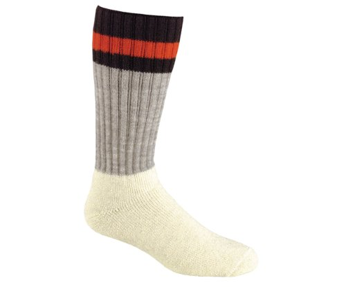 Over Wool Socks Calf - FoxRiver Men's Outdoorsox Mid-Calf, Grey, Large