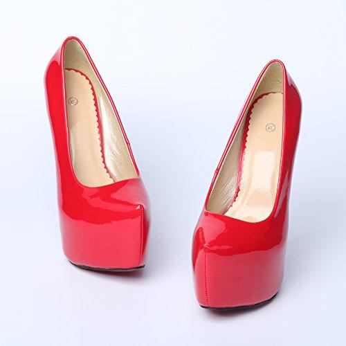 Para nbsp;tacón 43 Aguja nbsp;44 Marcher 35 Mujer Talla 06 Ochenta Epais Invisible 1f6 Alto Adaptable nbsp;– Club Fácilmente Zapato Soiree rouge Plus Sexy Plataforma wxqYf0xpg7
