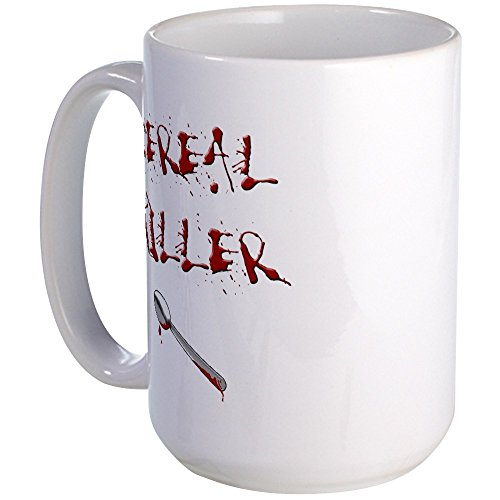 CafePress - Cereal Killer Spoon Large Mug - Coffee Mug, Large 15 oz. White Coffee Cup (Scary Halloween Coffee Mugs)