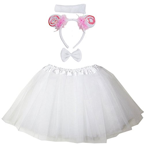 Kirei Sui Kids Costume Tutu Set White Sheep -