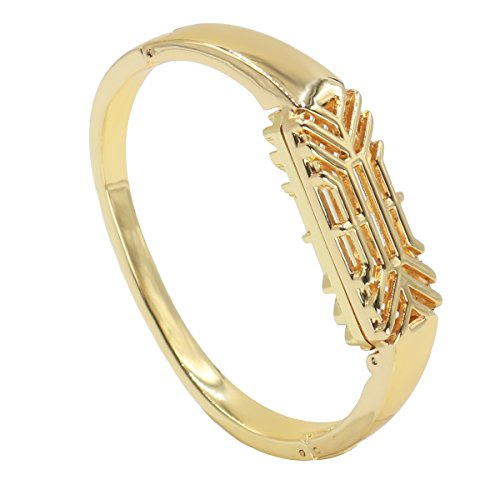 ZSZCXD for Fitbit Flex 2 Metal Band, Replacement Metal Bracelet Strap for Fitbit Flex 2 (No Tracker) (Gold)