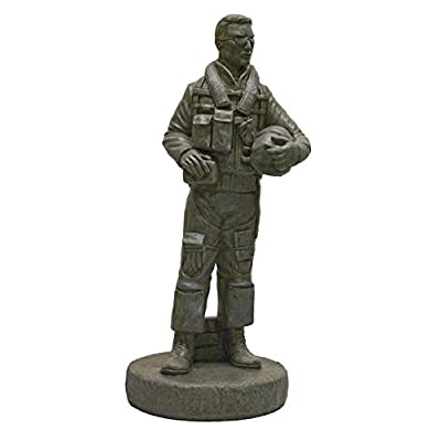 Solid Rock Stoneworks Decorative Stone Airforce Pilot Statue 24in Tall Cypress Color : Garden & Outdoor