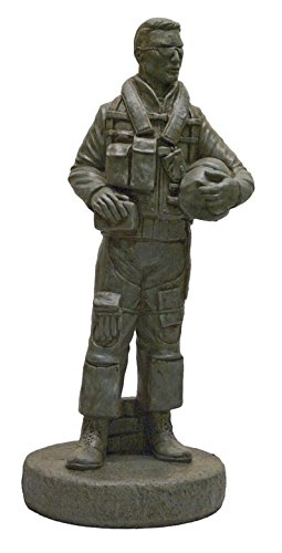Cheap Solid Rock Stoneworks Decorative Stone Airforce Pilot Statue 24in Tall Cypress Color