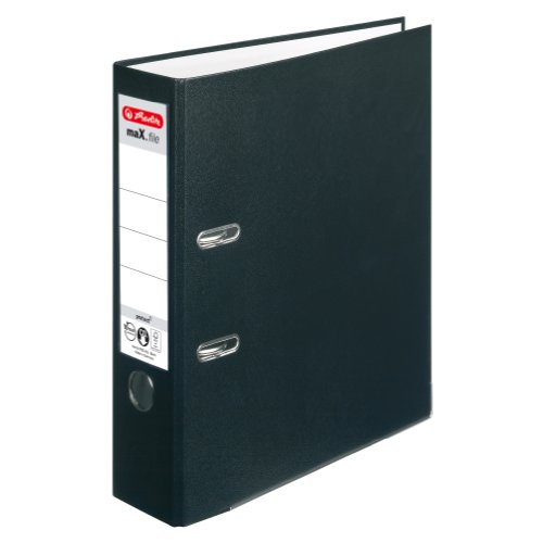 Herlitz 5480801 Ordner maX.file protect A4, 8 cm, schwarz