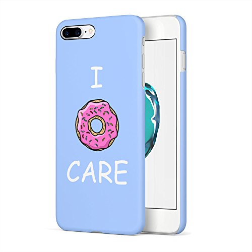 Care Sugar - I Donut Care Sugar Glazed Sweet Donut Apple iPhone 7 Plus Plastic Phone Protective Case Cover