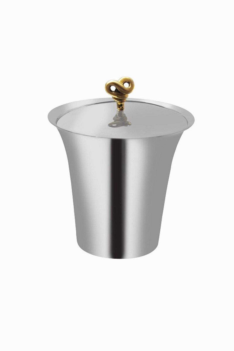 Fennel & Fork Double Knot Ice Bucket- Silver