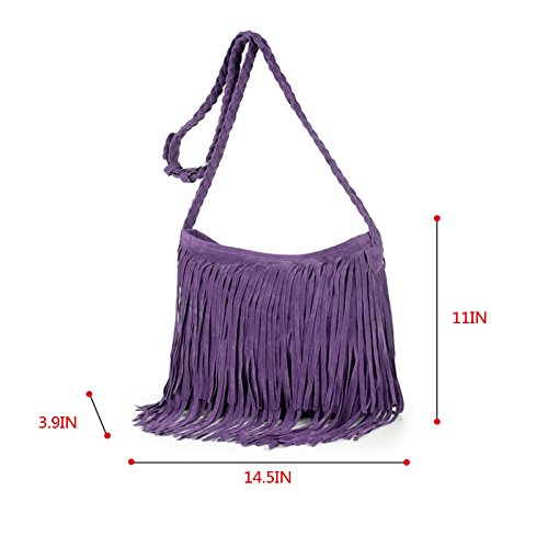 AisiCross Women Purple Bag For Beige One Size 5Rjc4LqS3A