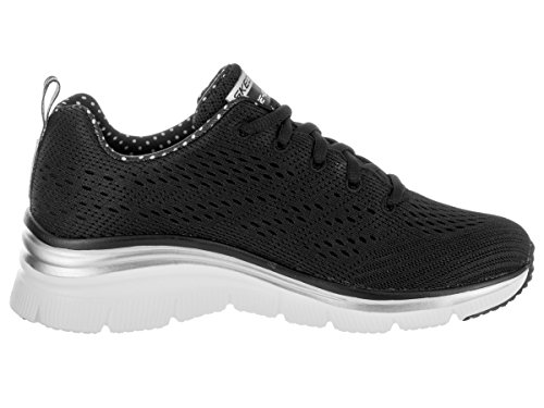 Noir Skechers Basses nbsp;statement Femme Baskets Piece Fashion Fit f8w86q0P