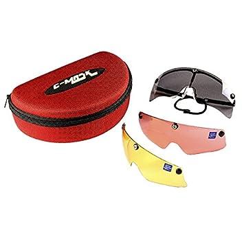 fb05998dc4 Castellani c-Mask Montura para Gafas de Tiro + 10 Lentes Intercambiables:  Amazon.es: Deportes y aire libre