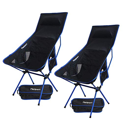 FBSPORT Lightweight Folding Camping Backpack Chair 1 Pack/2 Pack Compact & Heavy Duty Portable Chairs for Hiking Picnic Beach Camp Backpacking Outdoor Festivals