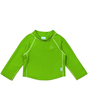 Long Sleeve Rashguard Shirt-Green-6mo
