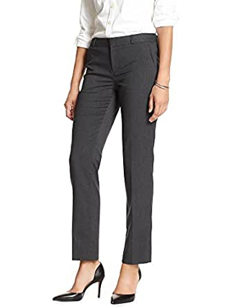 Petite Avery Straight-Fit Gingham Ankle Pant: fabric & care % polyester. Machine wash or dry clean. overview The Avery has a trouser fit through the hip and thigh, and a slightly tapered leg that creates an effortlessly chic, tailored silhouette. Zip fly with hook-and-bar closure. Belt loops.