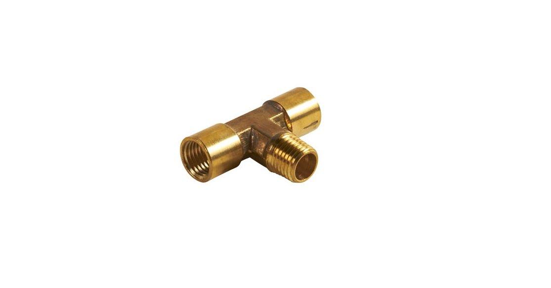 Hitachi 115179 Brass Two Way Tee Splitter with 1//4 NPT Female Thread