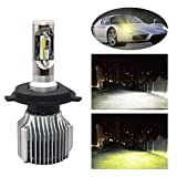 YTYC V1 H4 8000LM 36W Car Headlight White Yellow Light High Power 6000K LED Lamp