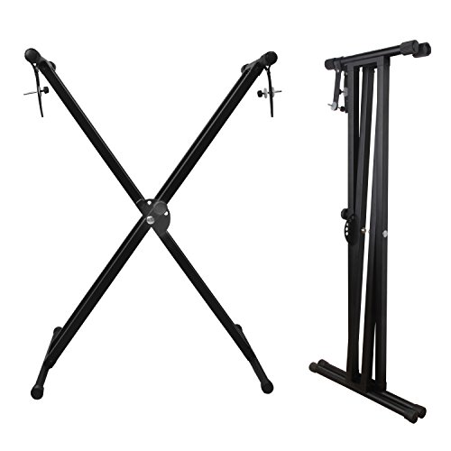 Keyboard Stand, Ajustable Piano Stand, Heavy Duty X-Style Double Braced with Locking Straps for Keyboard and Piano, Mugig by Mugig (Image #6)