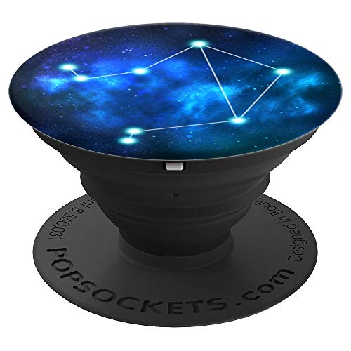 Zodiac Sign Libra Constellation Stars Nebula - PopSockets Grip and Stand for Phones and Tablets