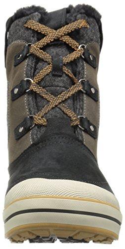 w Wp Snow Golden Women's Boot KEEN Premium Black Mid Elsa Brown IXBxSTq