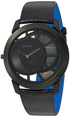 Titan Men's 1576NL01 Analog Display Quartz Black Watch
