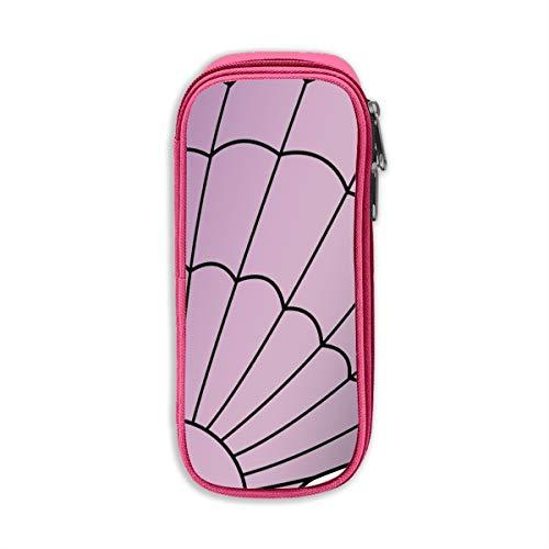 (Bfiapj Purple Mermaid Seashell School Pencil Case Pen Case Desk Organizer with Zipper Cosmetic Makeup Bag Pink)