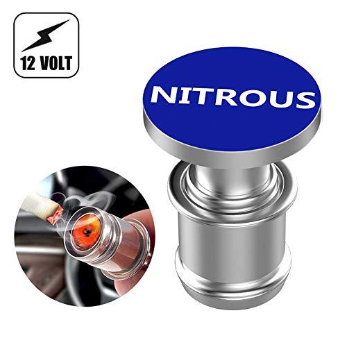 Melife Car Cigarette Lighter Replacement, NITROUS Button 12V Accessory Push Button Fits Most Automotive Vehicles (Blue)