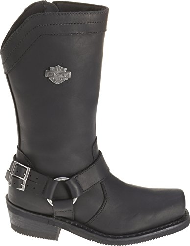 Harley-Davidson Women's Cybill 10-Inch Black Leather Motorcycle Boots D87034 Size 5.5