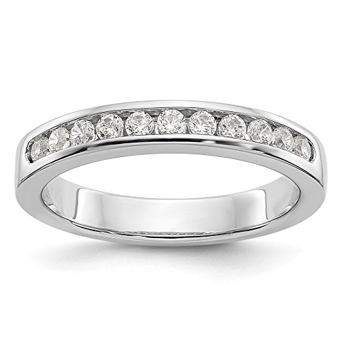 Size 6.5 - Platinum AA Diamond Channel Wedding Band (4mm) (1.023ct.) (Platinum Channel Ring 4mm Diamond)