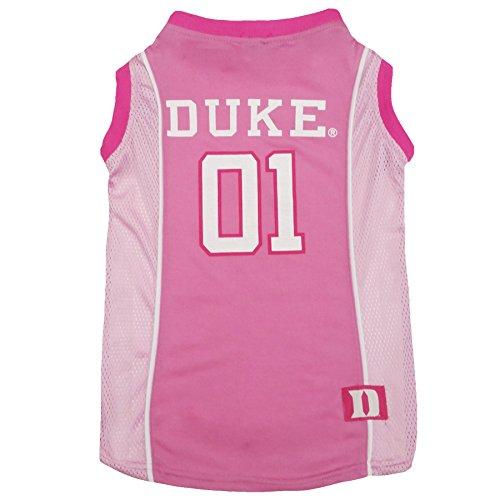 Pets First Duke University Pink Basketball Jersey, Large (Duke University Best Known For)
