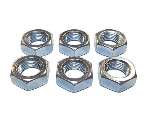 (QSC 5/8-18 Steel Right Hand Jam Nut, Clear Zinc Plated (6-Pack))