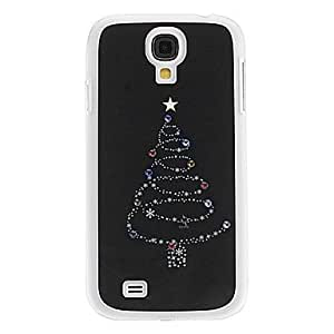 JJE Christmas Tree Pattern Hard Case with Rhinestone for Samsung Galaxy S4 I9500