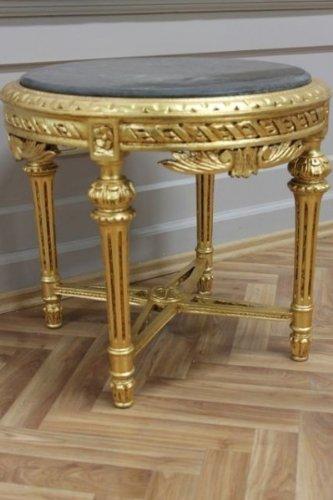 Tavolino Rotondo Da Salotto Antico.Tavolino Da Salotto Rotondo Legno Antico Stile Barocco Awta0254 Gosw