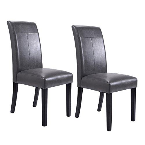 Giantex Leather Armless Kitchen Furniture
