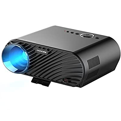 "GooDee Portable Movie Projector 3200 Luminous Efficiency 1280x800 Resolution LCD Max 280"" Home Theater Video Projector with HDMI Support 1080P VGA USB SD AV TV Laptop for Entertainment Game Party"