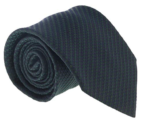 Ermenegildo Zegna Navy- Green Cubic Stripe Tie for, used for sale  Delivered anywhere in USA