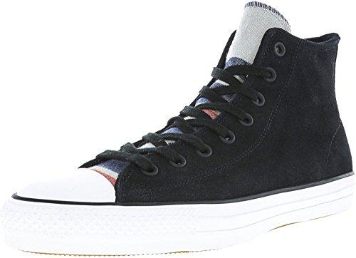 Converse All Star Pro Blanket Stripe Hi Black/White High-Top Leather Fashion Sneaker - 12.5M 10.5M