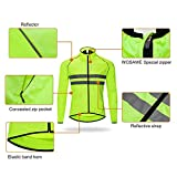 WOSAWE Men's High Visibility Cycling Wind Jacket