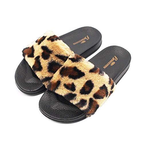 scivolo Leopard 39 Anti Con Deed Trattamento Pantofole In Interno Tessuto Da Donna Eu HHwRaq