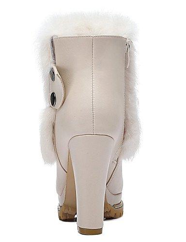 White Robusto A White Casual us8 Zapatos Cn39 Moda Vestido Uk6 Cn3 Botas De negro Cn35 Tacón Xzz Y 5 La Nieve Mujer Noche Sintético 5 Fiesta Uk3 Eu36 us5 Eu39 UTqwI0ngP
