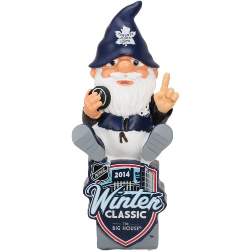 FOCO NHL Toronto Maple Leafs 2014 Winter Classic Sitting On Logo Gnome, Blue by FOCO