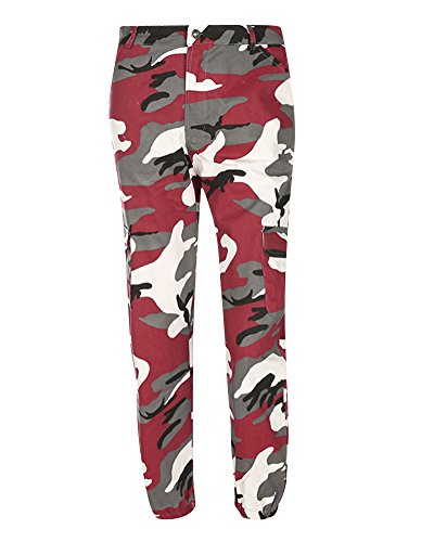 Cargo Camouflage Tasconi Jeans Donna Casual Harlan Chiaretto Elasticizzati Con Pantaloni vExw85Iq