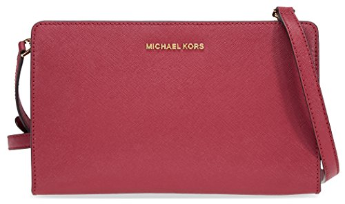 MICHAEL Michael Kors Women's Large Cross Body Clutch, Mulberry, One Size by MICHAEL Michael Kors