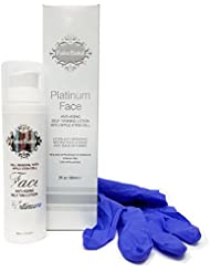 Self Tanning Face Anti-Aging Solution Platinum Face by Fake Bake | Long Lasting Formula Ideal for Sensitive Facial Skin | Preserves Youthful Look and Skin Vitality | 2 fl oz