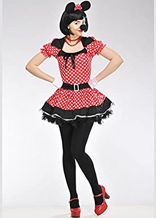 Magic Box Disfraz de Minnie Style Mouse para Mujer Large (UK 14-16 ...