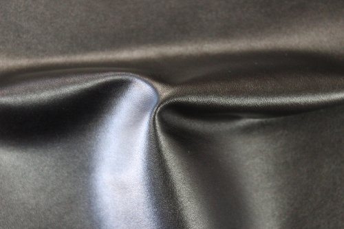 2-Way Stretch Black Faux Leather Fabric By The Yard