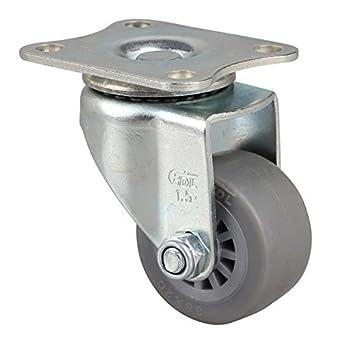 4 ruedas giratorias EDL Mini Duty de 3,81 cm, 30 kg de TPE, tipo de freno y rueda de rueda industrial pequeña para carro: Amazon.es: Amazon.es