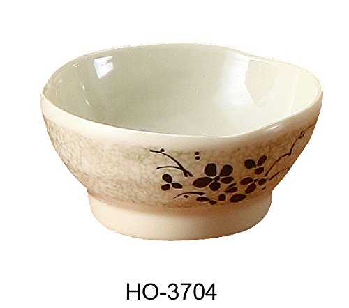 Yanco HO-3704 Honda Rice Bowl, 8 oz Capacity, 2.5'' Height, 4.25'' Diameter, Melamine, Pack of 72 by Yanco
